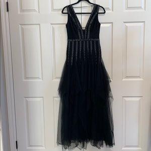 BCBGMaxAzria Black Long Dress Gown Size 6